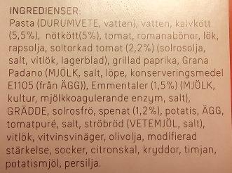 Dafgårds Italienska Kalvfärsbiffar - Ingrédients - sv