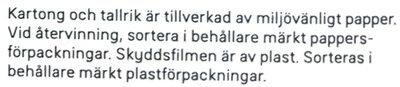 Dafgårds Italienska Kalvfärsbiffar - Instruction de recyclage et/ou informations d'emballage - sv