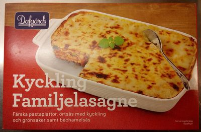 Dafgårds Kyckling Familjelasagne - Produit