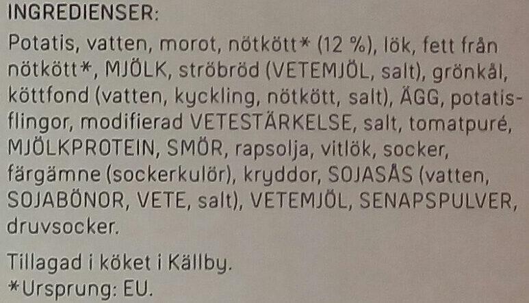 Dafgårds Farmarbiff - Ingrédients - sv