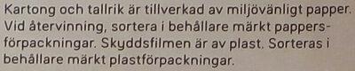 Dafgårds Farmarbiff - Instruction de recyclage et/ou information d'emballage - sv