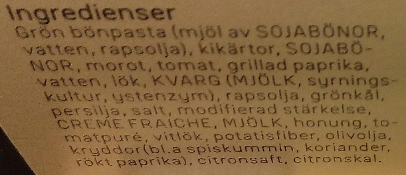 Dafgårds Ärtig falafel - Ingredients