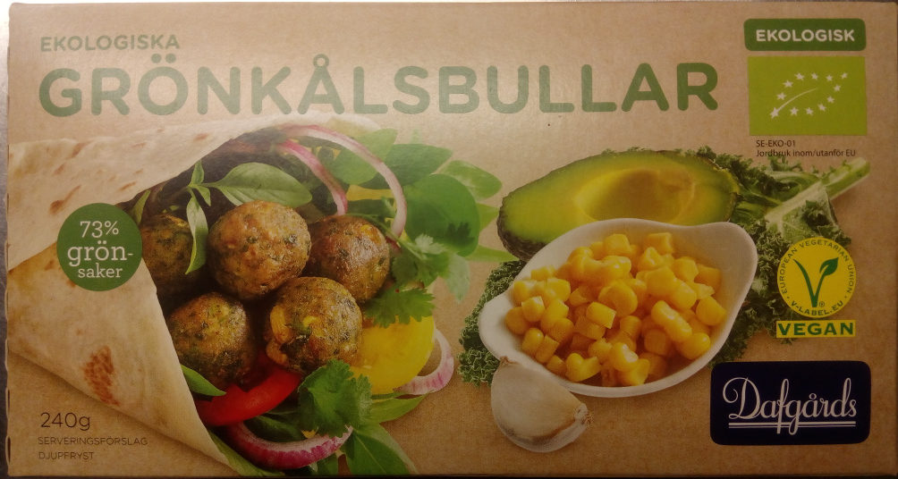 Dafgårds Ekologiska Grönkålsbullar - Product
