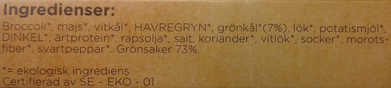 Dafgårds Ekologiska Grönkålsbullar - Ingredients
