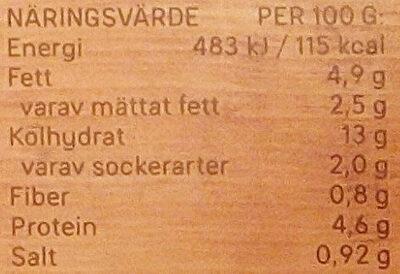 Dafgårds Lasagne i ugn - Voedingswaarden - sv