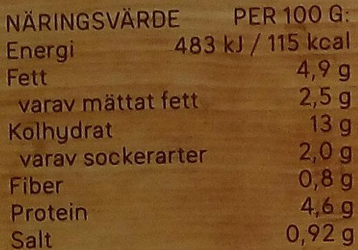 Dafgårds Lasagne i ugn - Informations nutritionnelles - sv