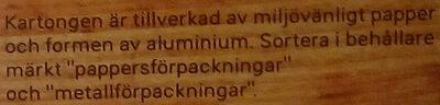 Dafgårds Lasagne i ugn - Instruction de recyclage et/ou informations d'emballage - sv