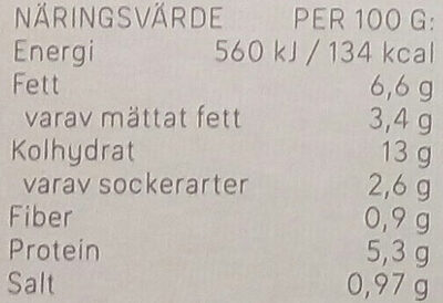 Dafgårds Karins Familjelasagne - Informations nutritionnelles - sv