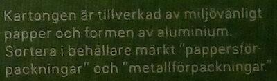 Dafgårds Karins Familjelasagne - Instruction de recyclage et/ou informations d'emballage - sv