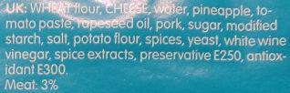 Billys Pan Pizza Hawaii - Ingredients