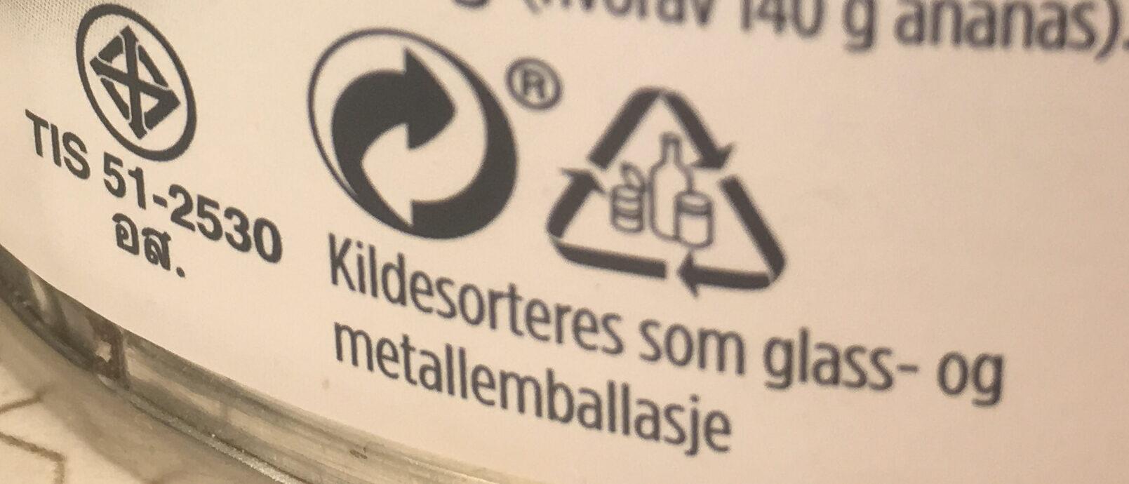 Ananas Biter i Juice - Instruction de recyclage et/ou informations d'emballage - nb
