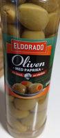 oliven med paprika - Produit - en