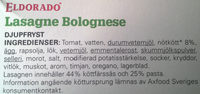 Eldorado Lasagne Bolognese - Ingrédients