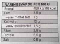 Eldorado Lasagne Bolognese - Nutrition facts