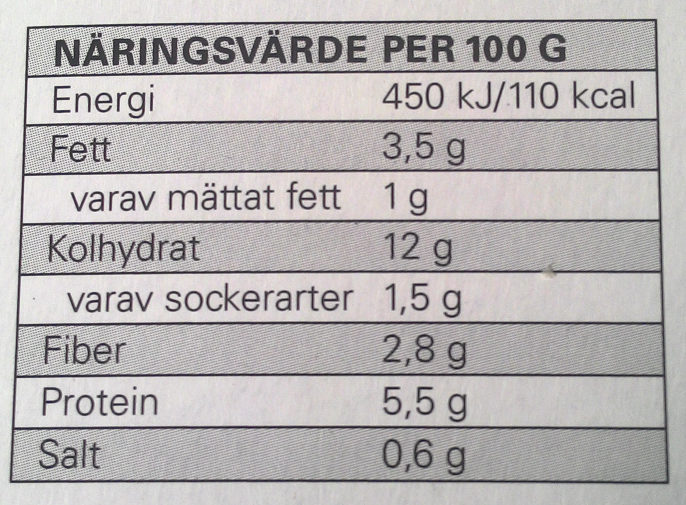 Eldorado Lasagne Bolognese - Informations nutritionnelles