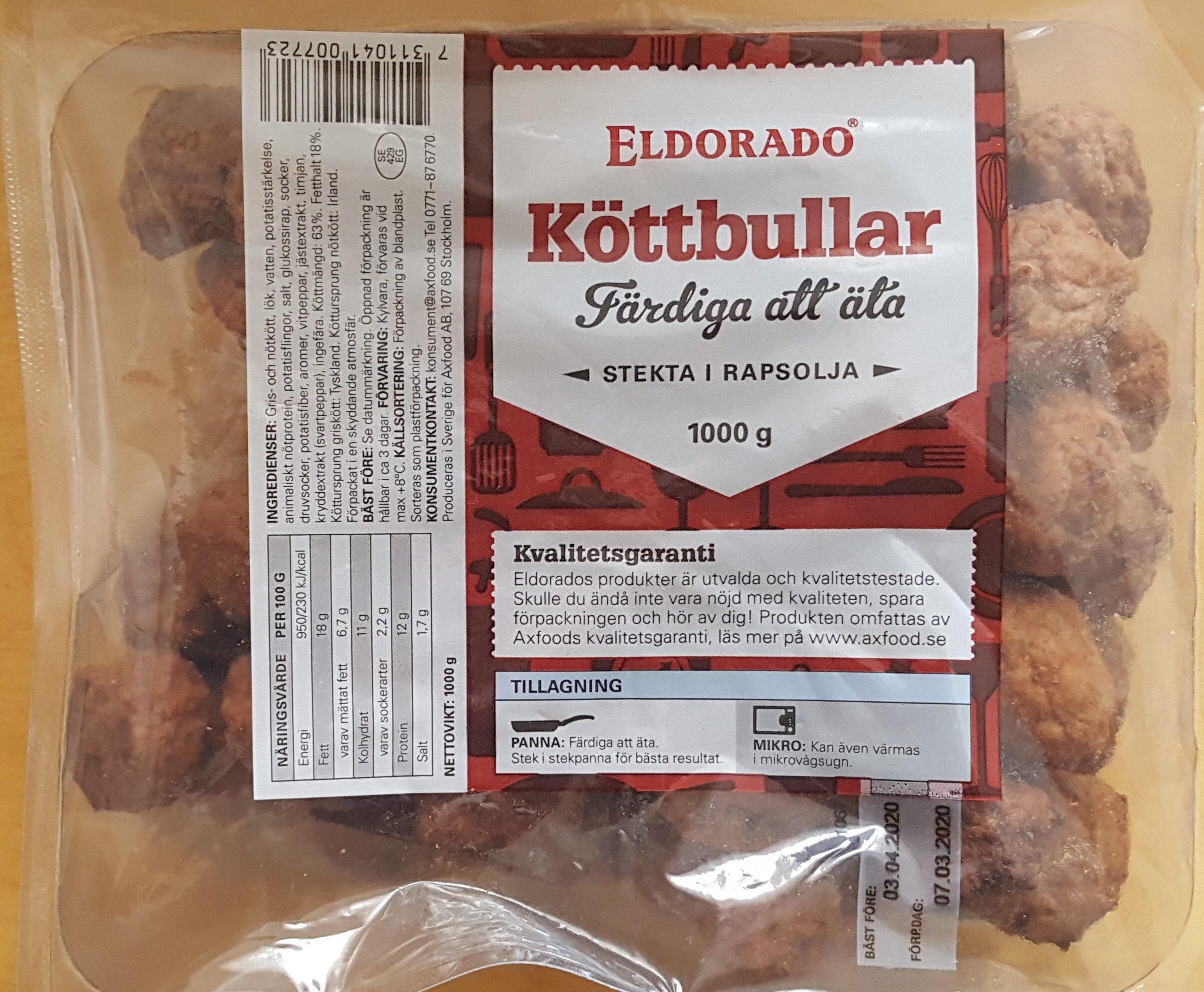 Eldorado Köttbullar - Product - sv