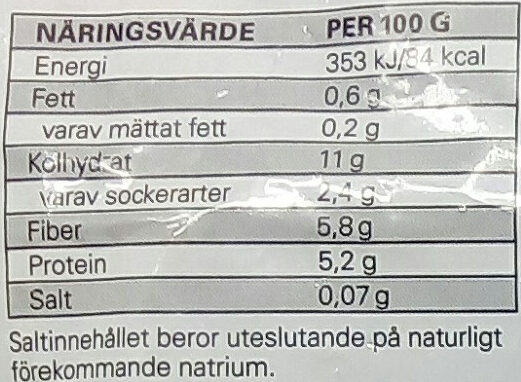 Eldorado Ärter, majs & paprika - Informations nutritionnelles - sv