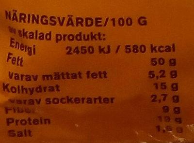 Eldorado Solrosfrön med skal, rostade och saltade - Informations nutritionnelles