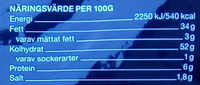 Garant Tunna saltade chips - Nutrition facts