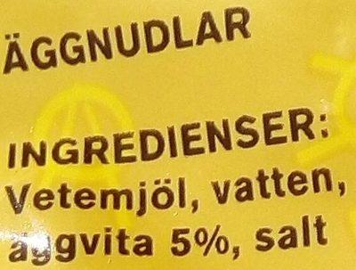Eldorado Äggnudlar - Ingrédients - sv