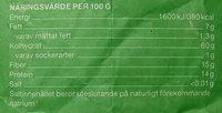 Garant Fiberhavregryn - Informations nutritionnelles - sv