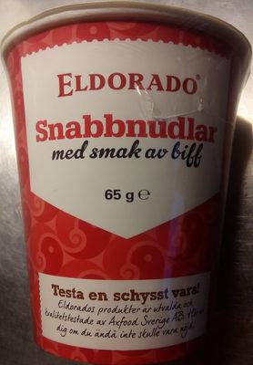 Eldorado Snabbnudlar med smak av biff - Produit