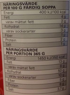 Eldorado Snabbnudlar med smak av biff - Informations nutritionnelles