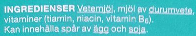 Makaroner - B-vitaminberikade - Ingrediënten - sv