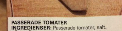 Passerade tomater - Ingrédients - fr