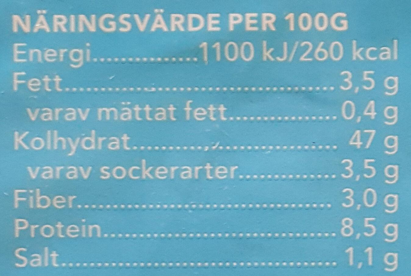 JätteFranska - Informations nutritionnelles - sv