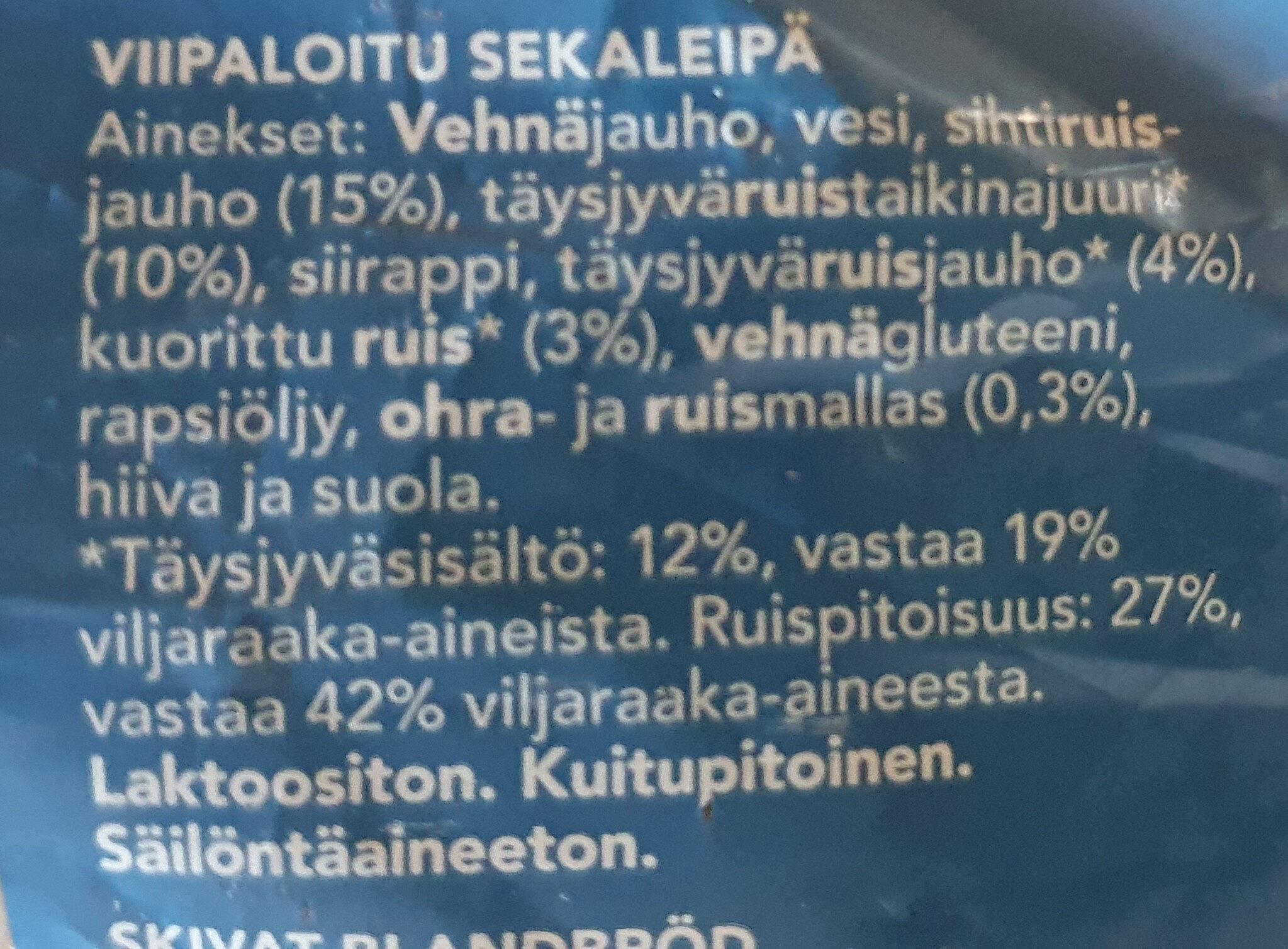 Talonpoika taikinajuurileipä - Ingrédients - fi