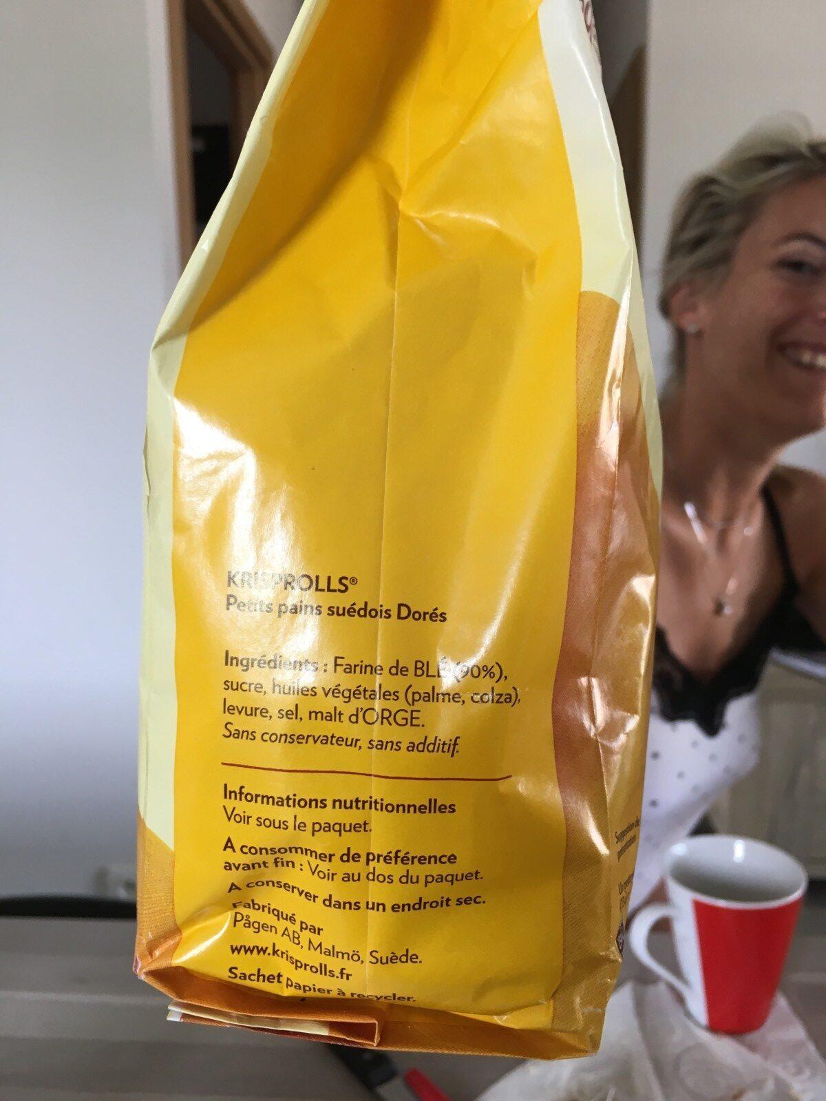 Krisprolls - Ingredients - fr