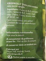 Krisprolls Complets Sans sucres ajoutés - Ingrediënten - fr