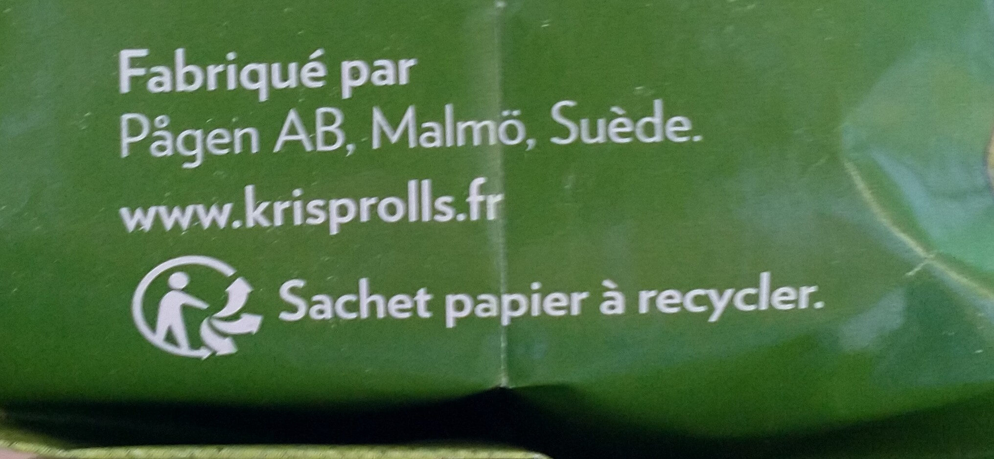 Krisprolls Complets Sans sucres ajoutés - Recyclinginstructies en / of verpakkingsinformatie - fr