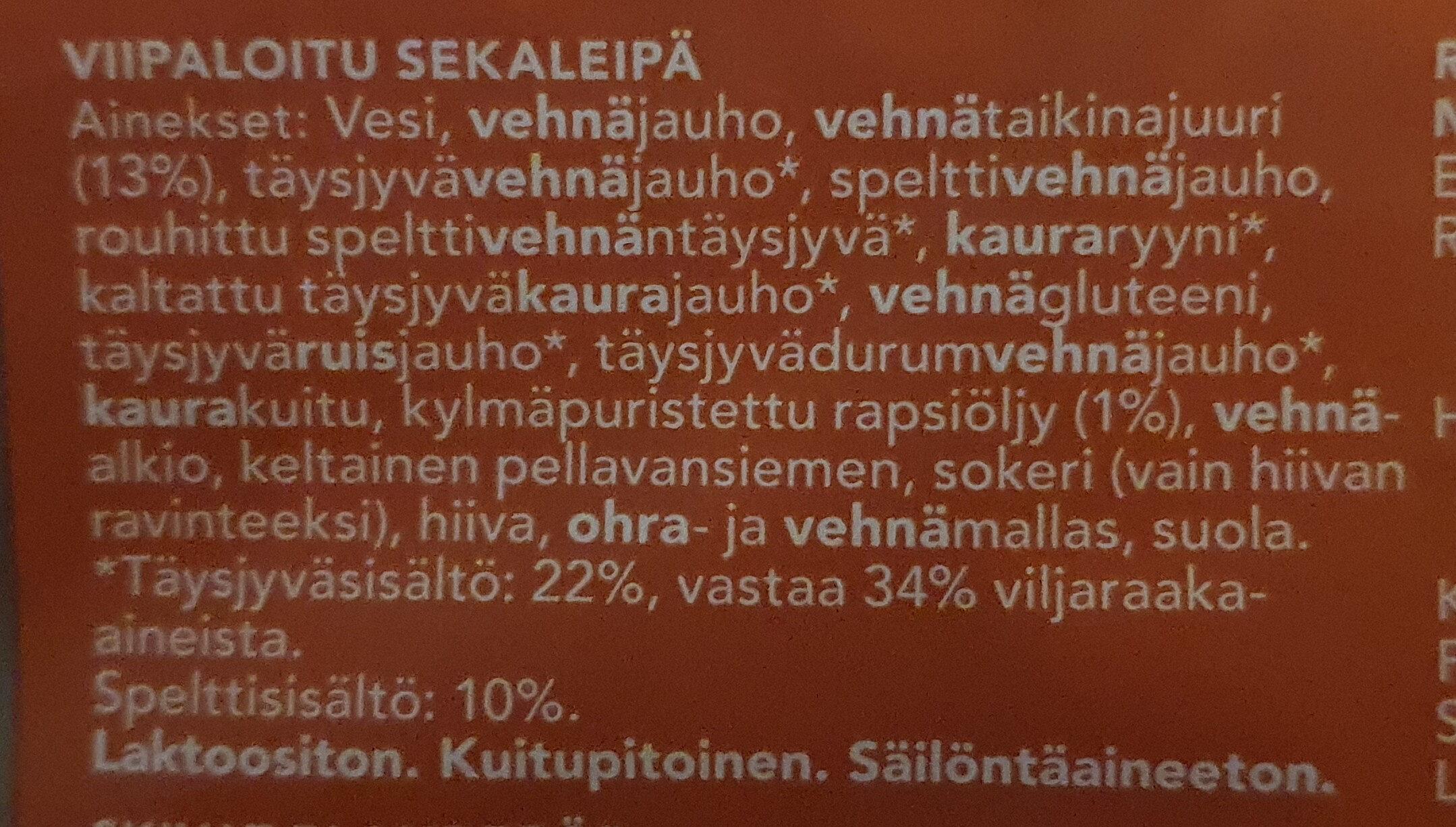 Maalaishyvä - Ingrédients - fi
