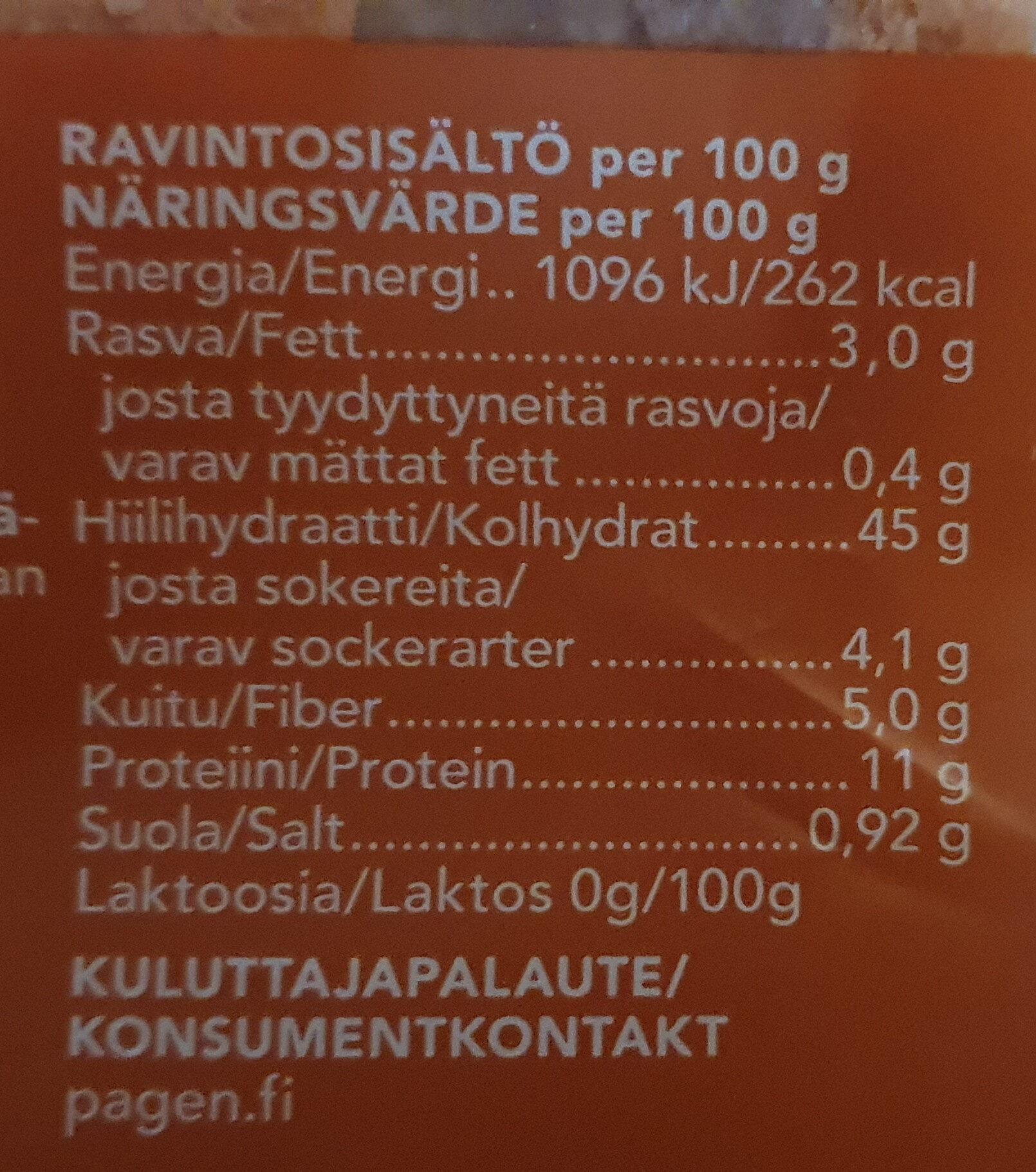 Maalaishyvä - Informations nutritionnelles - fi