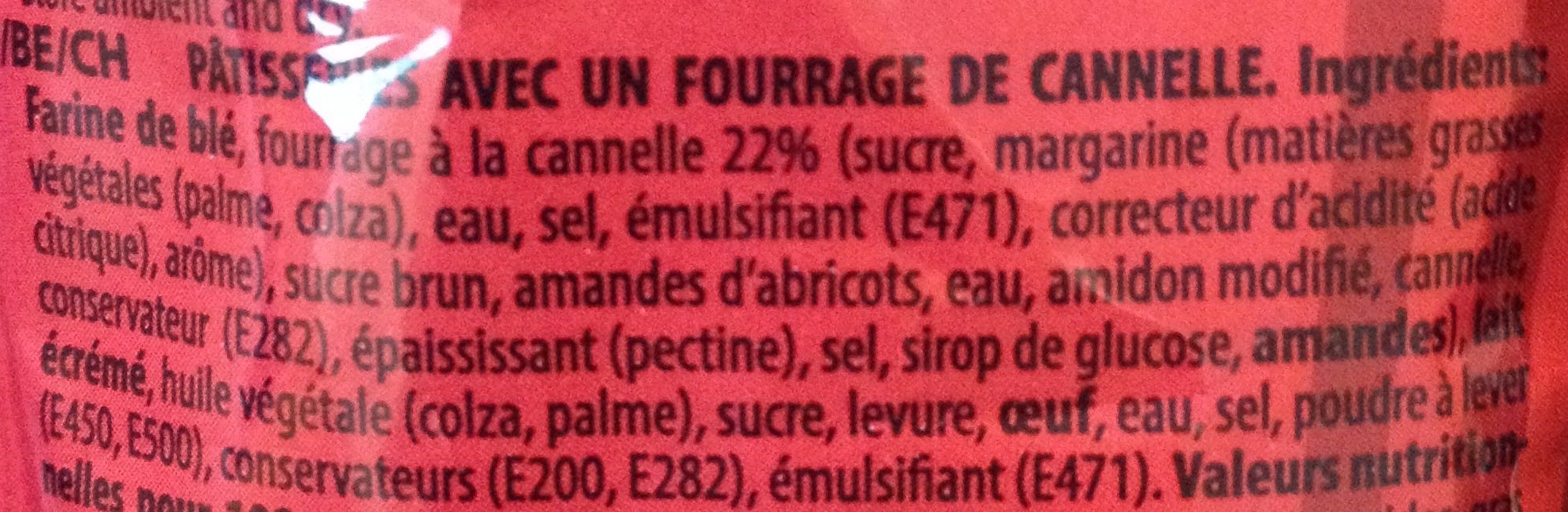 Gifflar cannelle zimt - Ingrédients - fr