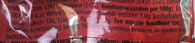Gifflar cannelle zimt - Voedingswaarden