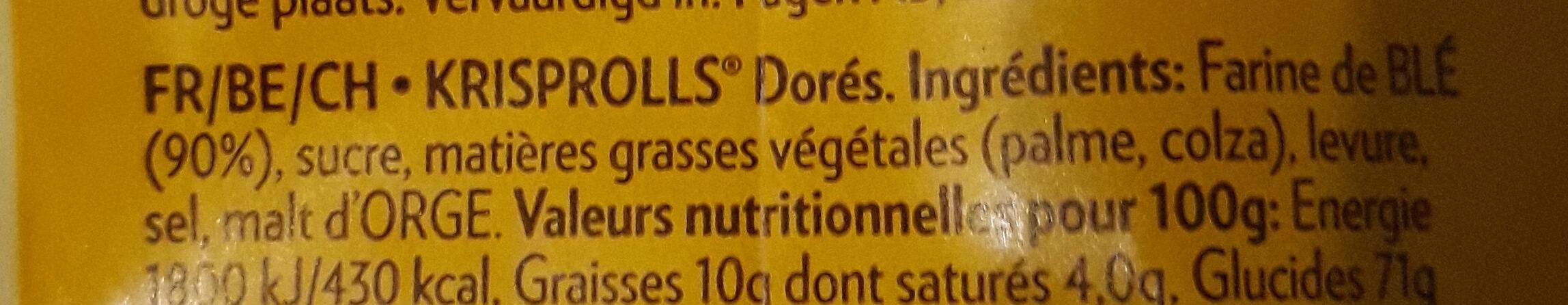 Krisprolls dorés - Ingrediënten - fr