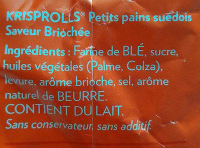 Krisprolls briochée - Ingredients - fr