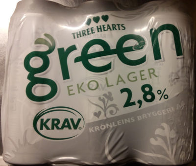 Three Hearts Green EKO Lager 2,8% - Produit - sv