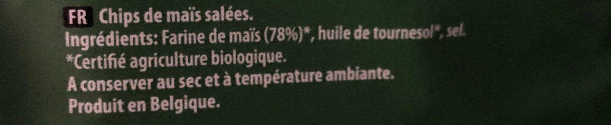 Tortilla Chpis - salted - Ingrédients - fr