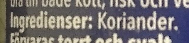 Koriander, malen - Ingredients