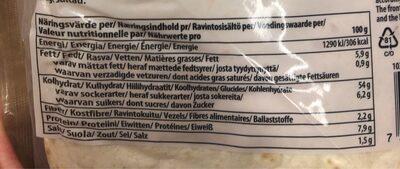 Tortilla ecológica super tierna bolsa 320 g - Nutrition facts