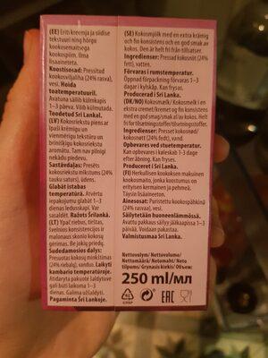 Rich Coconut Cream - Ingredients - en
