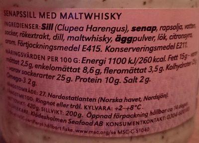 Senapssill med maltwhisky - Ingrediënten
