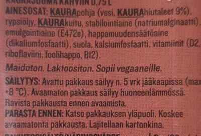 Plant Kaurajuoma Kahviin - Ingrédients - fi