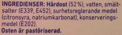 Kavli MildOst - Ingredients - sv