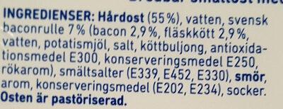 BaconOst - Ingrédients - sv