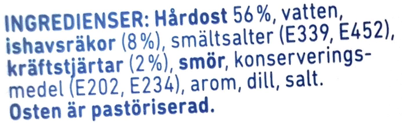 Räk & Kräftost - Ingrédients - sv